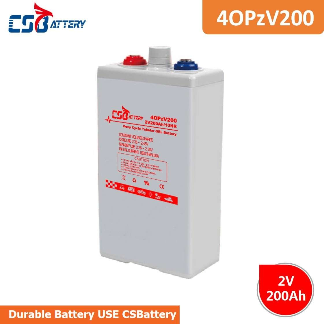 CSBattery 2V200Ah Long Cycle Life Rechargeable Solar  Battery For Medical/sweeper/Inverter/Power-Tools/Turf&Irrigation-Systems