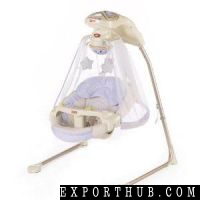 Fisher Papasan Baby Cradle Swing In Starlight White