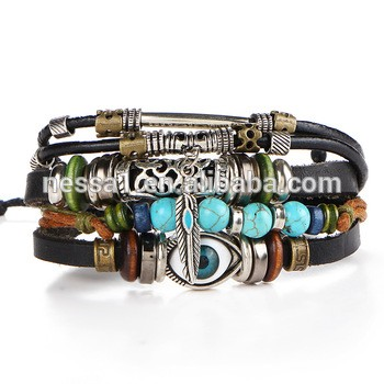 Fashion leather bracelet clothes men accessories
