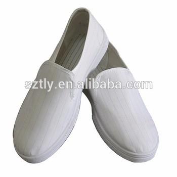 防静电白色帆布鞋ESD防护洁净鞋