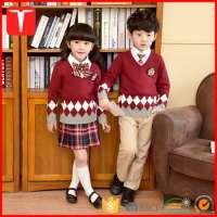 Kids Vneck Pullover Argyle School Uniform Sweater