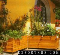 Large Outdoor Wooden Flower Pot
