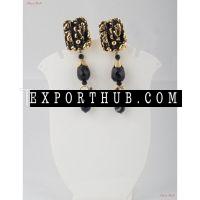 Jewellery Earrings Black Onyx Paired