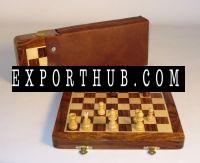 *0&ampquot Folding Wood Magnetic Chess
