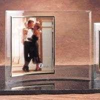 "8"" X 10"" Jade Glass Vertical Crescent Photo Frame"
