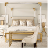 Commercial Hotel Bed Frame Bedroom Furniture Double Bed Designs