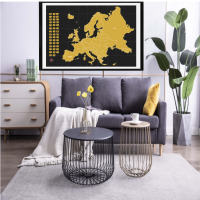 2020 New Design Personalized Design Deluxe Edition Scratch Off Europe Map For Traveler,with Flaps With Custom Logo