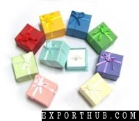 Silver Jewelry Rings Paper Box