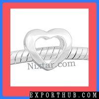 Hollow Heart Shape Bead