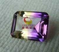 bicolor quartz gemstone jewelry