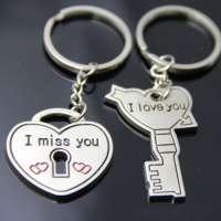 Key And Heart Keychain Metal Keychain Keychain Key And Heart