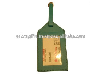 pu leather tags for bags & luggage / personalized luggage tag wedding fovor pu leather /garment accessories