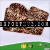 Leapard print non slip bathroom mat sets