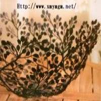 Leaves Metal Fruit Basket