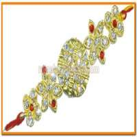 Diamond Look Stone Beads Rakhi
