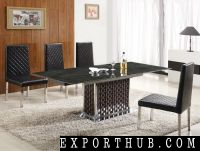 Stainless Steel Marble Extendable Dining Table
