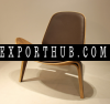 replica Hans wegner shell chair wooden chair plywood leisure lounge chair