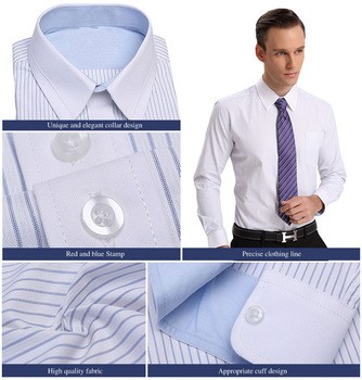 Lasest Design Men's Business Shirt Stripe Business Shirt