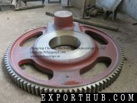 Sand Steel Casting Rubber Machinery Curing Press Part Crank Gear