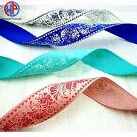 Wholesale Custom Character Printed **0% Polyester Satin Ribbon