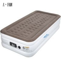 Flock single size inflatable air bed&Acirc&nbspwith electric pump adults