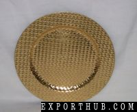 Gold Round Plastic Charger Plates
