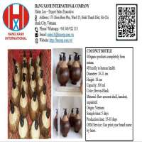 COCONUT BOTTLE FOR LIQUID HANMADE PRODUCT, NATURAL, ORGANIC