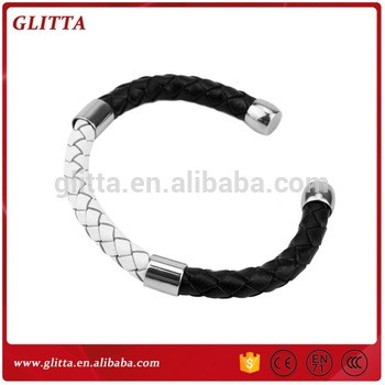 Fashion accessories mens handmade leather bracelet