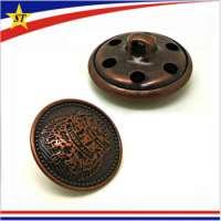 圆的金属按钮
