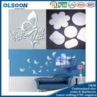 Wall Mirror Acrylic Rangoli Designs