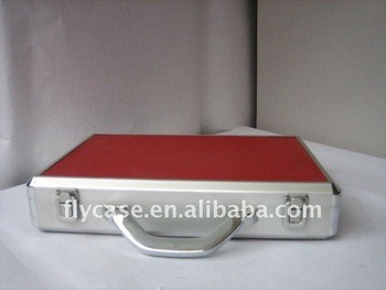 red Aluminum briefcase size 350 270 65MM stronger handle
