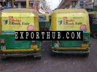 Auto Rickshaw Branding vinyl pasting