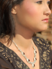 necklace garnet stone