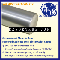 SUS400 Series Stainless Steel Quenched Linear Shaft HRC5658 Surface Roughness 005 Similar To Mirror High Precision