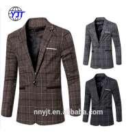 Casual Design Hem Mens Blazers Coat Wool Suits Men
