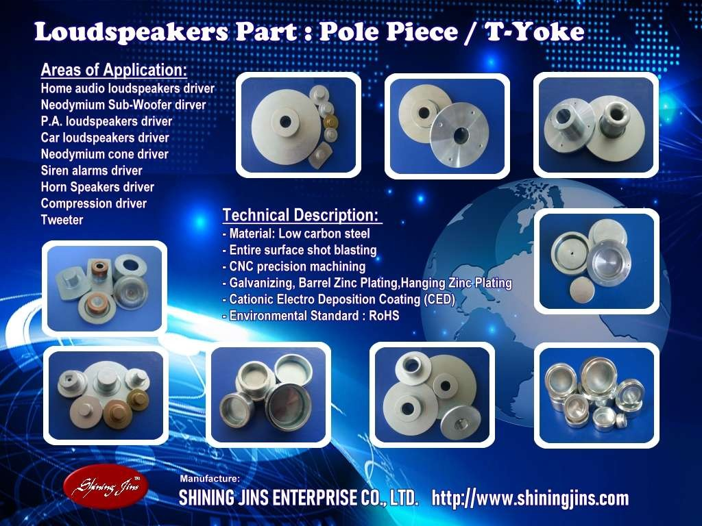 ,Speakers Part: T-Yoke Made In Taiwan