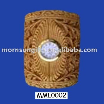 Exotic resin clock table pen stand