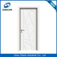 Eco Material Pvc Membrane Wooden Doors