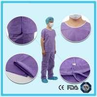 Disposable Nonwoven Purple Scrub Suits
