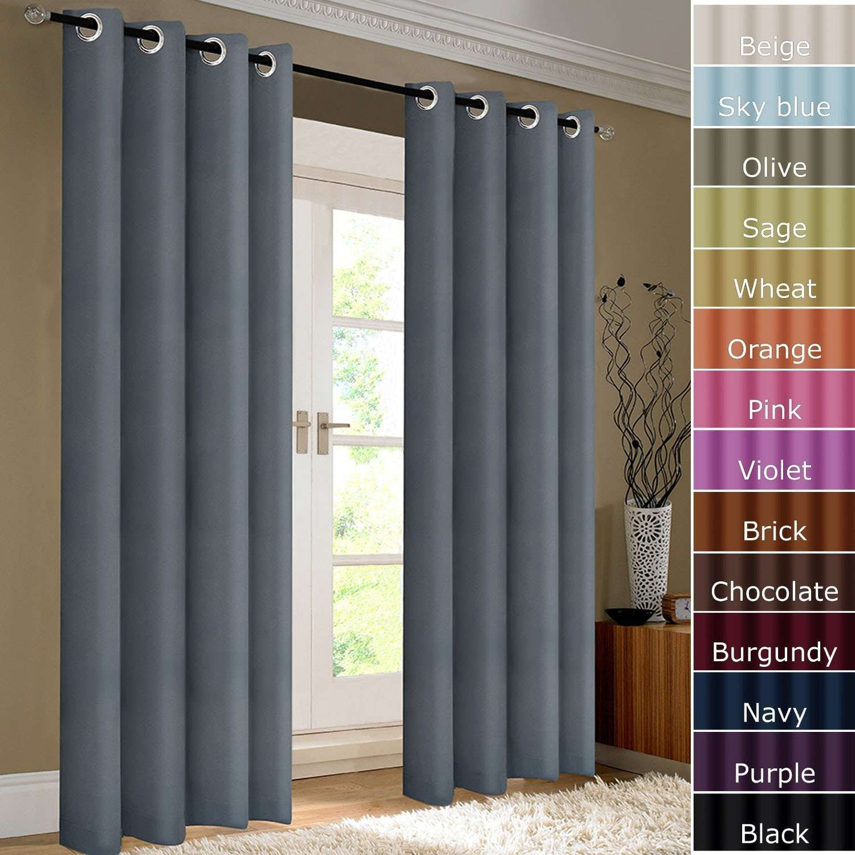 Classic Blackout Grommet Window Curtain Ktexinter (DS012)