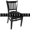 Wooden Chair Restaurant Vertical Slat Side ALL1002
