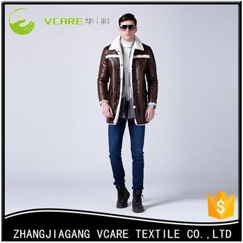 Fur mens Leather Coat