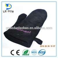 Heat Resistant Leather Oven Mitten Gloves