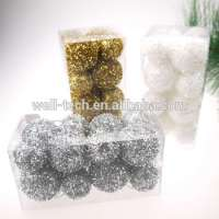 Christmas Decoration Glitter Foam Ball Garland