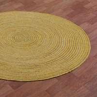 编织的黄麻地毯