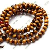 8mm Round Bead Tigereye Stone Necklace Buddha Bead Necklace And Fa