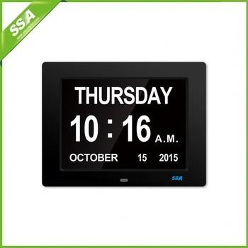 auto dimming calendar alarm desk clock