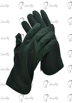 Cotton Black Nock Cuff Gloves