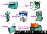 Square Can Forming Facepressing And Angle Pressing Machine