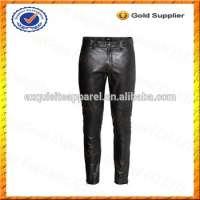 Mens Leather Pants Men Black Leather Biker Pants Leather Pants Men